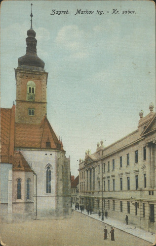 Zagreb : Markov trg - Kr. sabor