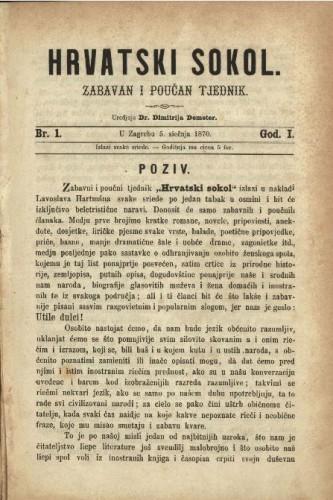 Hrvatski sokol : zabavan i poučan tjednik / uredjuje Dimitrija Demeter