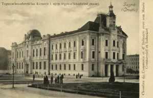 Zagreb (Croatie) : Trgovačko-obrtnička komora i njen trgovačko-obrtni muzej = Chambre de Commerce et d'Industrie avec son Musee Commercial et Industriel / R. Mosinger