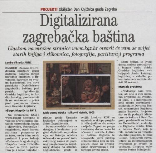 Digitalizirana zagrebačka baština