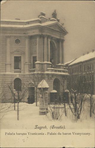 Zagreb, (Croatie) : palača baruna Vranicania - palais du baron Vranyczany