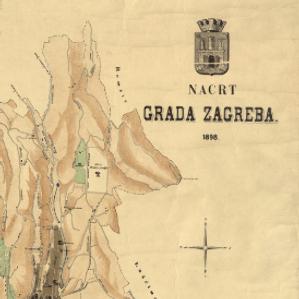 Nacrt grada Zagreba : 1898. / sastavio gradski gradjevni ured