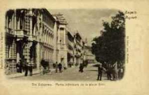Zagreb : dio Zrinjevca = Agram : partie inferieure de la place Zrini / Po fotogr. atel. Mosinger