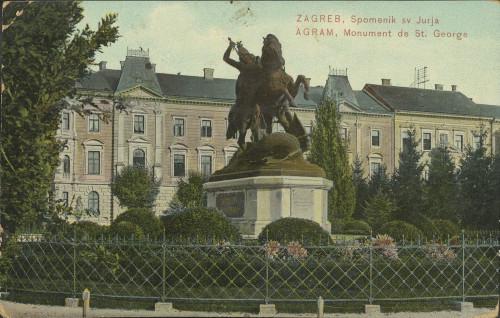 Zagreb, spomenik sv. Jurja = Agram, monument de St. George