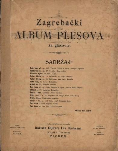 Zagrebački album plesova : za glasovir