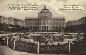 Umjetnički paviljon : Prva Hrvatska filatelistička izložba = Pavillon des arts (Pavillon de l'exposition) : 1e Exposition philatelique croate : 1.-8.IX.1907. a Zagreb (Croatie)