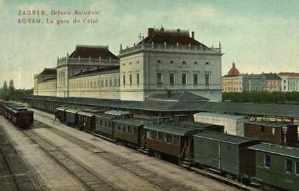 Zagreb, Državni Kolodvor = Agram, La gare de l'etat