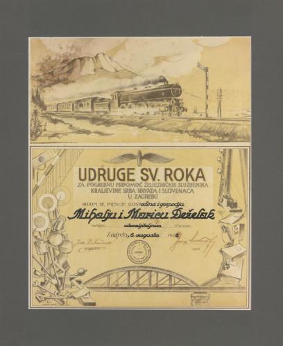 Udruge sv. Roka za pogrebnu pripomoć željezničkih službenika
