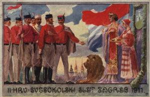 II. hrv. svesokolski slet Zagreb 1911. / Klišeji i tisak Dioničke tiskare u Zagrebu
