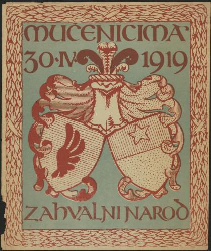 Mučenicima zahvalni narod 30.IV. 1919