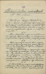 Bludilištni pravilnik : Gradsko poglavarstvo u Zagrebu 16. travnja 1899. / Gradski načelnik Mošinsky
