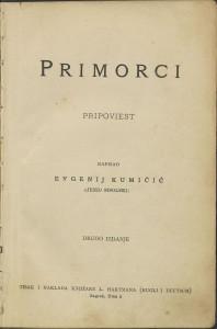 Primorci : pripoviest / napisao Evgenij Kumičić (Jenio Sisolski)