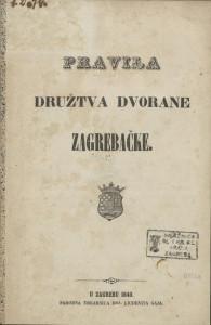 Pravila Družtva dvorane zagrebačke