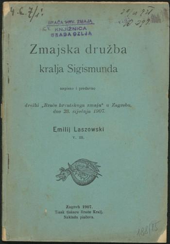 Zmajska družba kralja Sigismunda / napisao i predavao družbi