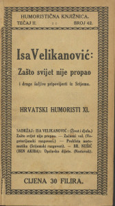 Zašto svijet nije propao i druge šaljive pripovijesti iz Srijema / Isa Velikanović