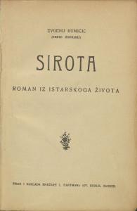 Sirota : roman iz istarskog života / Evgenij Kumičić (Jenio Sisolski)